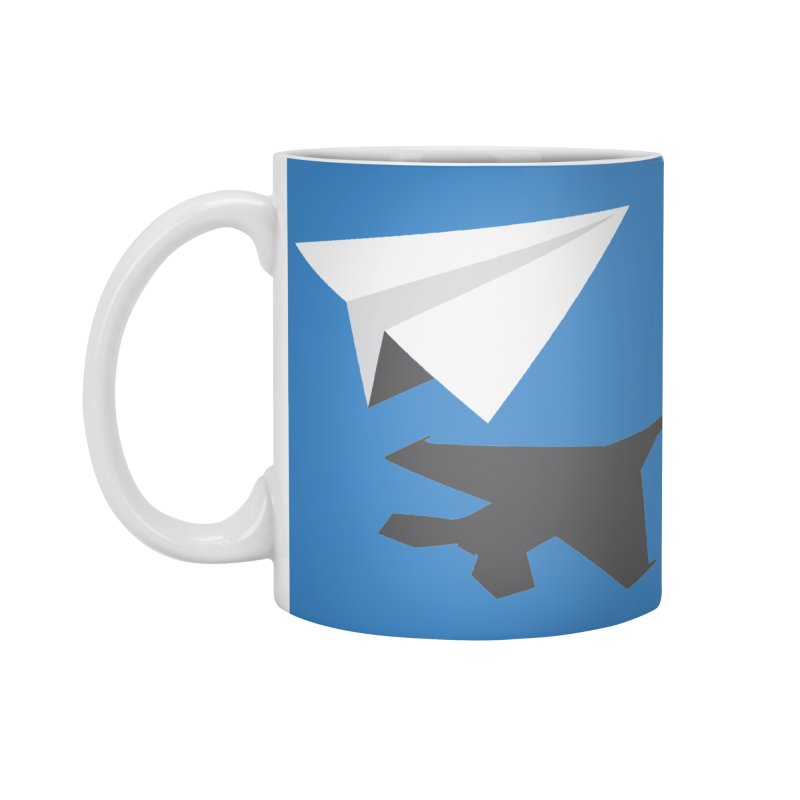 PAPERPLANE FIGHTER Accessories Standard Mug by ALGS's Artist Shop