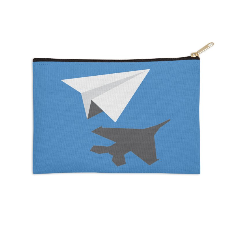 PAPERPLANE FIGHTER Accessories Zip Pouch by ALGS's Artist Shop
