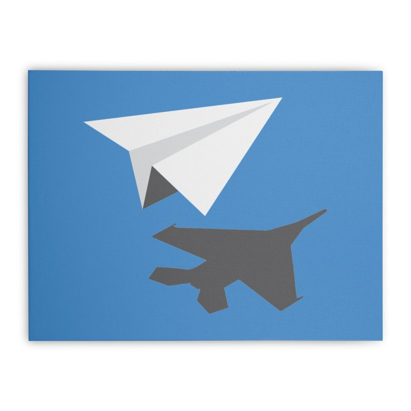 PAPERPLANE FIGHTER Home Stretched Canvas by ALGS's Artist Shop