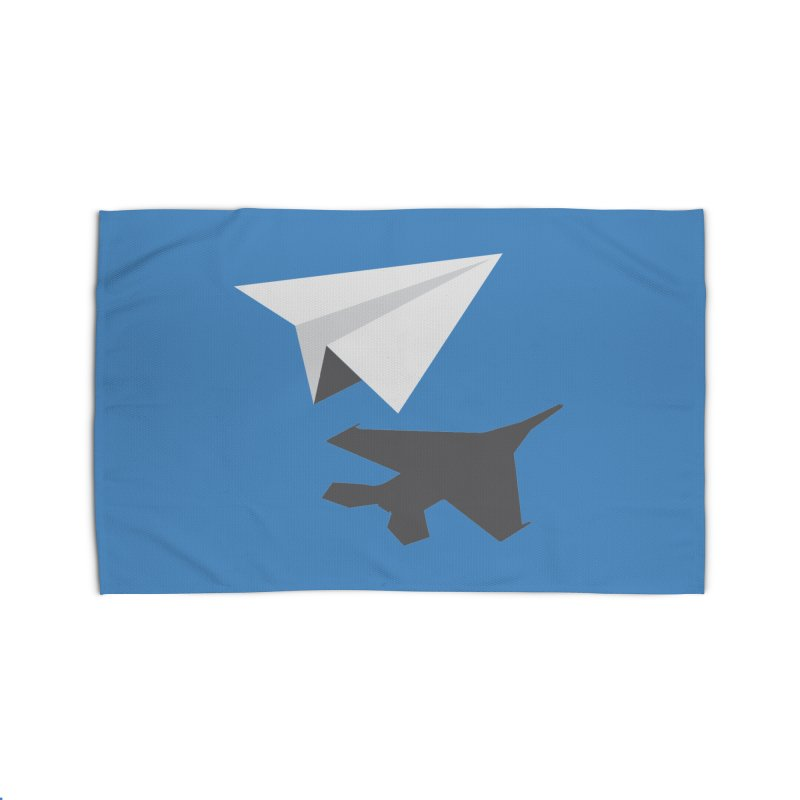 PAPERPLANE FIGHTER Home Rug by ALGS's Artist Shop