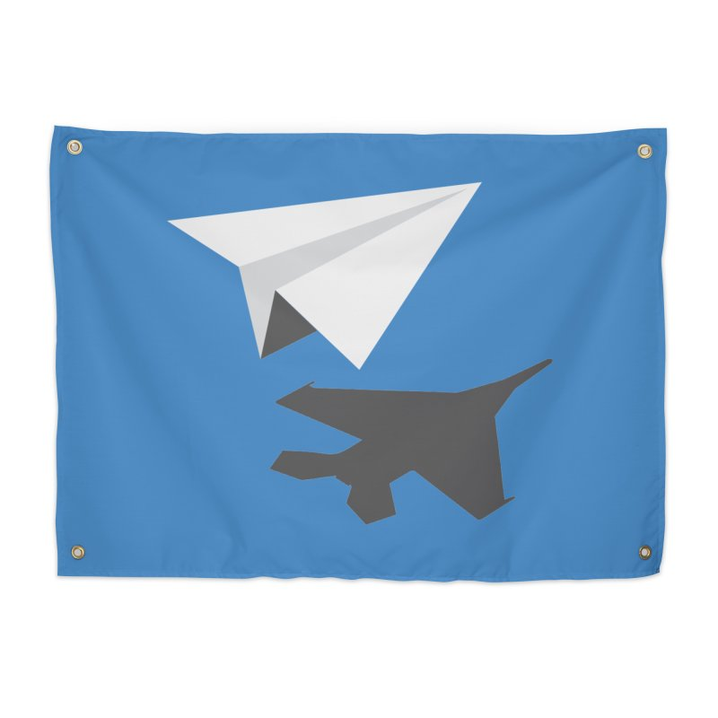 PAPERPLANE FIGHTER Home Tapestry by ALGS's Artist Shop