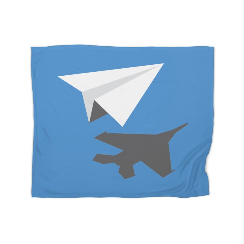 PAPERPLANE FIGHTER Home Blanket by ALGS's Artist Shop