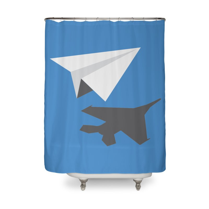 PAPERPLANE FIGHTER Home Shower Curtain by ALGS's Artist Shop