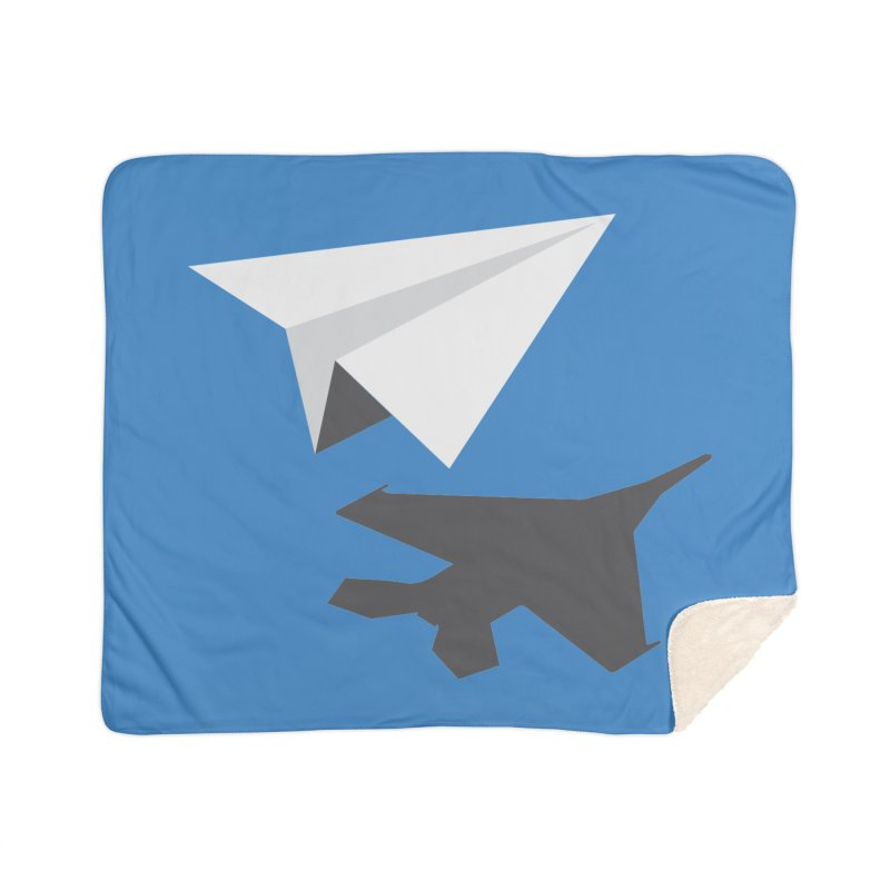 PAPERPLANE FIGHTER Home Sherpa Blanket Blanket by ALGS's Artist Shop
