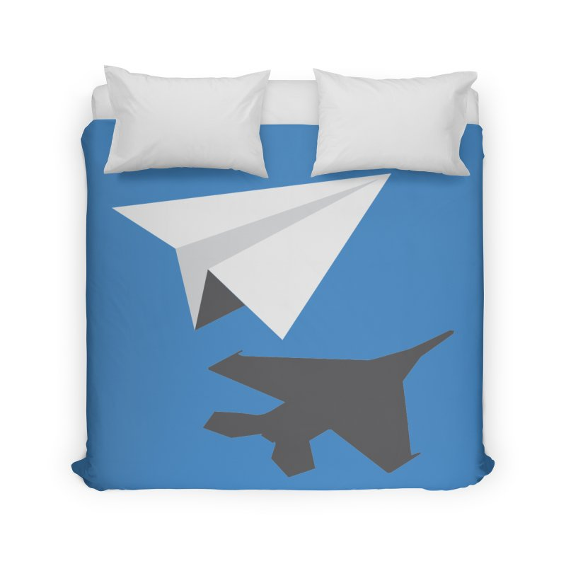 PAPERPLANE FIGHTER Home Duvet by ALGS's Artist Shop