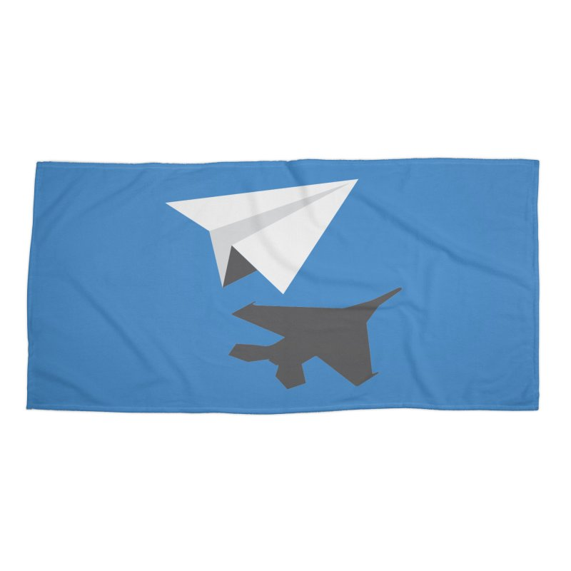 PAPERPLANE FIGHTER Accessories Beach Towel by ALGS's Artist Shop