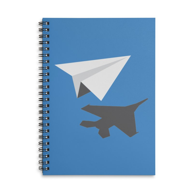 PAPERPLANE FIGHTER Accessories Lined Spiral Notebook by ALGS's Artist Shop