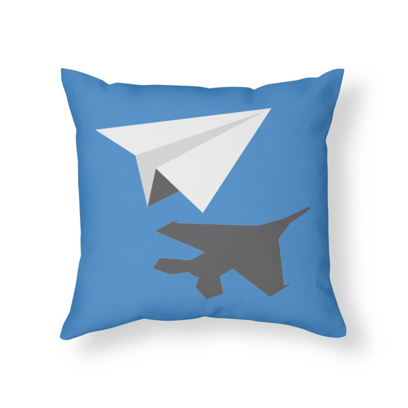 PAPERPLANE FIGHTER Home Throw Pillow by ALGS's Artist Shop