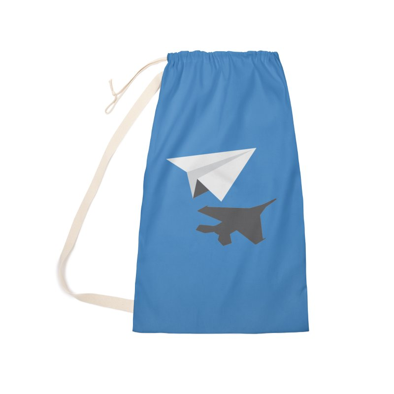 PAPERPLANE FIGHTER Accessories Laundry Bag Bag by ALGS's Artist Shop