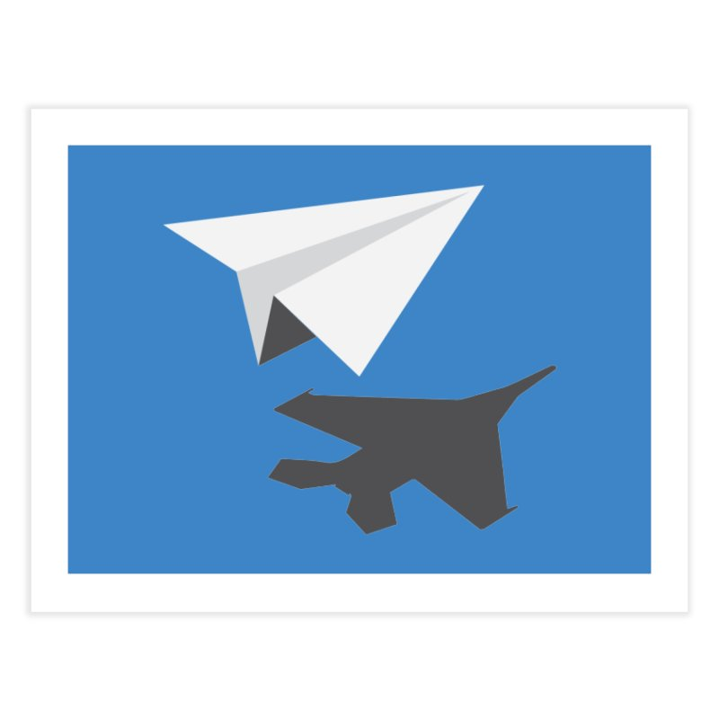 PAPERPLANE FIGHTER Home Fine Art Print by ALGS's Artist Shop