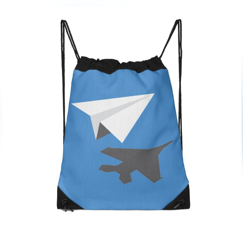 PAPERPLANE FIGHTER Accessories Drawstring Bag Bag by ALGS's Artist Shop