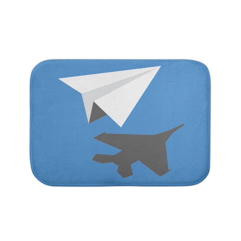 PAPERPLANE FIGHTER Home Bath Mat by ALGS's Artist Shop