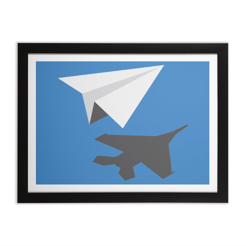 PAPERPLANE FIGHTER Home Framed Fine Art Print by ALGS's Artist Shop