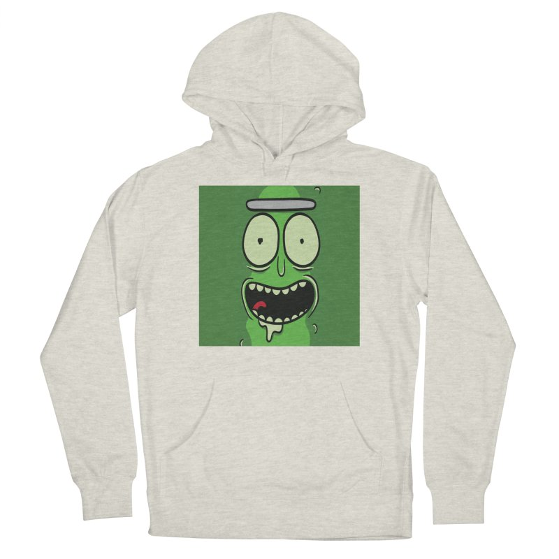 Pickle Rick Men's French Terry Pullover Hoody by ALGS's Artist Shop