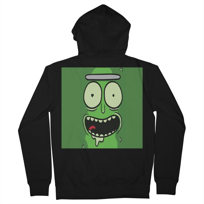 Pickle Rick Women's French Terry Zip-Up Hoody by ALGS's Artist Shop