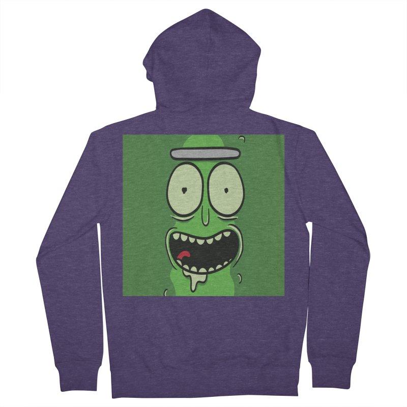 Pickle Rick Men's Zip-Up Hoody by ALGS's Artist Shop