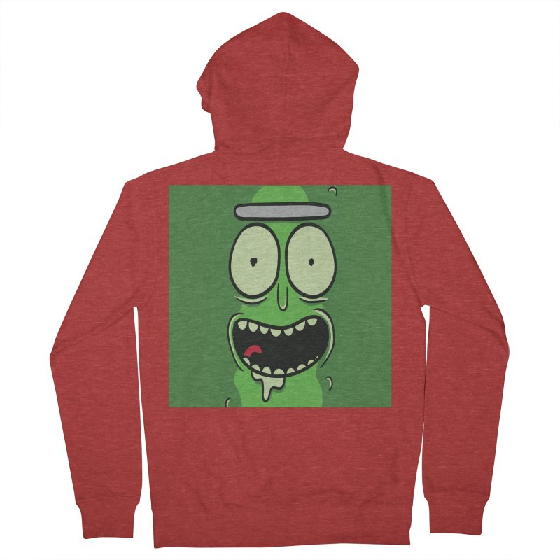 Pickle Rick Men's French Terry Zip-Up Hoody by ALGS's Artist Shop