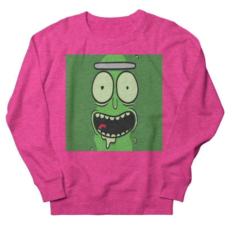 Pickle Rick Men's French Terry Sweatshirt by ALGS's Artist Shop