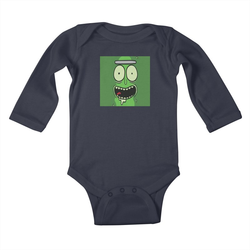 Pickle Rick Kids Baby Longsleeve Bodysuit by ALGS's Artist Shop