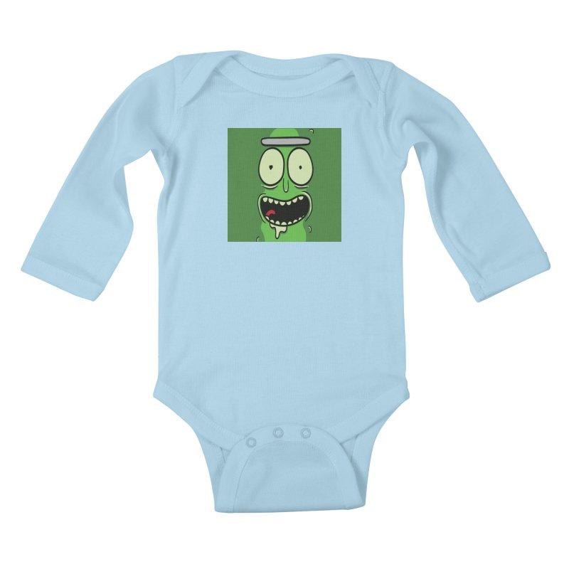 Pickle Rick Kids Baby Longsleeve Bodysuit by ALGS's Artist Shop