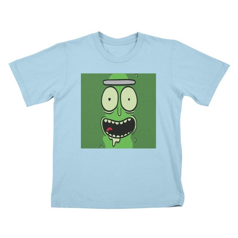 Pickle Rick Kids T-Shirt by ALGS's Artist Shop