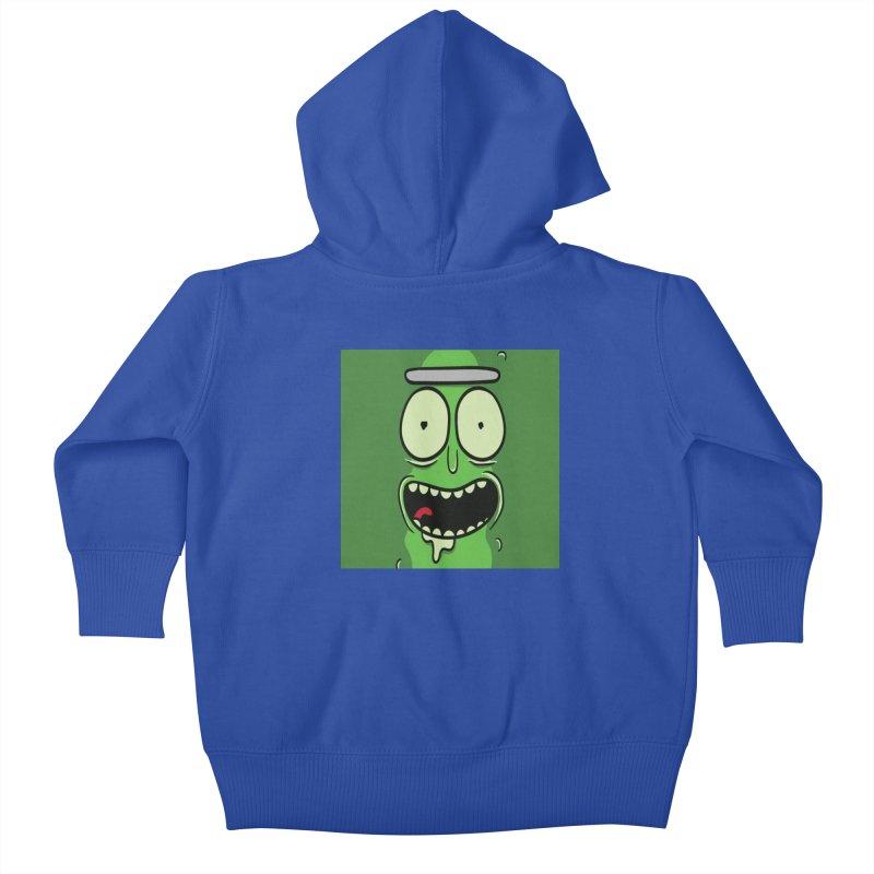 Pickle Rick Kids Baby Zip-Up Hoody by ALGS's Artist Shop