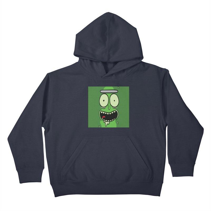 Pickle Rick Kids Pullover Hoody by ALGS's Artist Shop