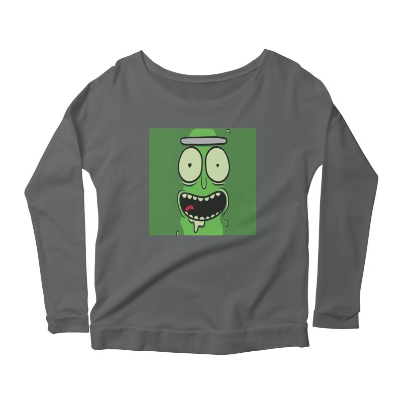 Pickle Rick Women's Scoop Neck Longsleeve T-Shirt by ALGS's Artist Shop