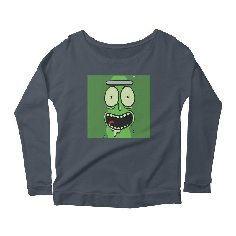 Pickle Rick Women's Scoop Neck Longsleeve T-Shirt by ALGS's Artist Shop