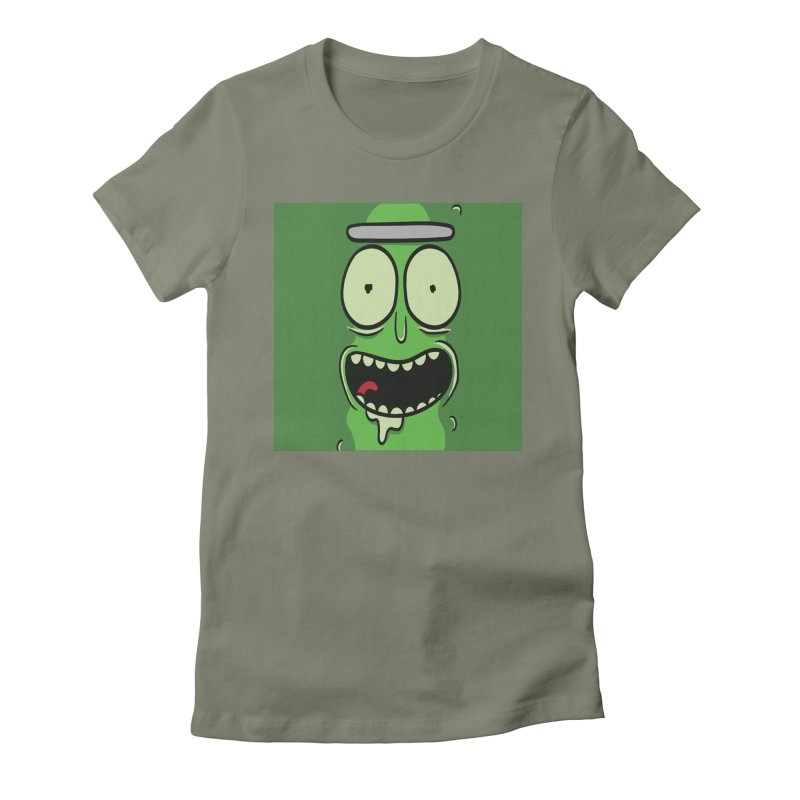 Pickle Rick Women's Fitted T-Shirt by ALGS's Artist Shop