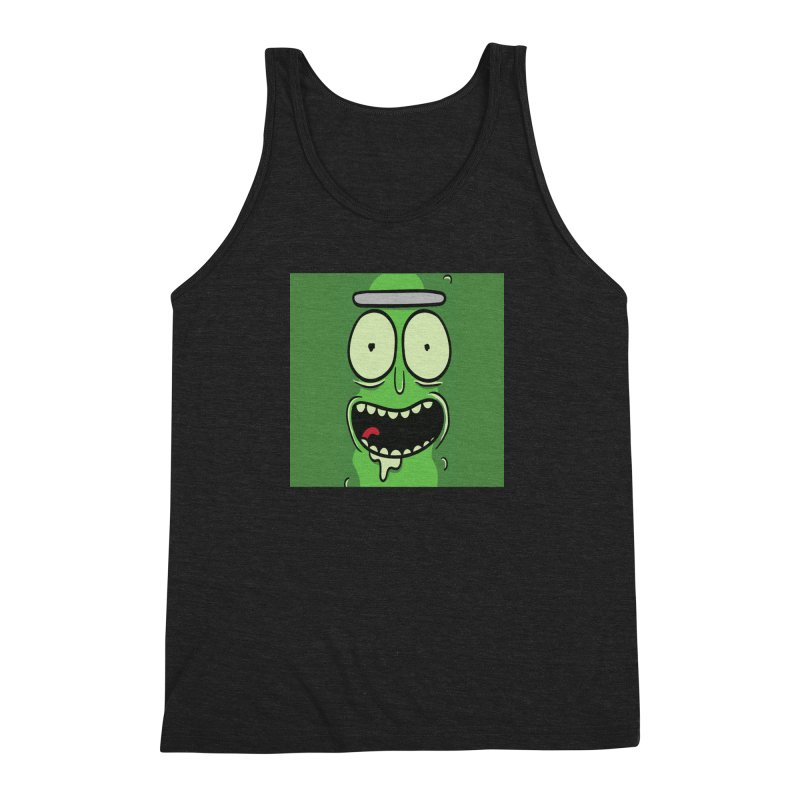 Pickle Rick Men's Triblend Tank by ALGS's Artist Shop