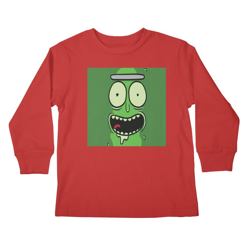 Pickle Rick Kids Longsleeve T-Shirt by ALGS's Artist Shop