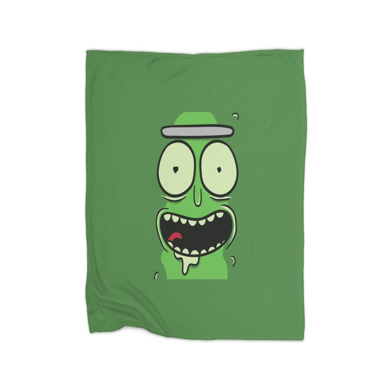 Pickle Rick Home Blanket by ALGS's Artist Shop