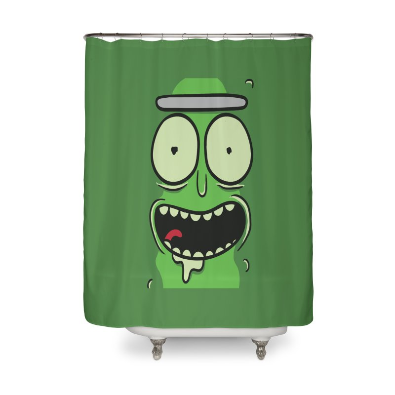 Pickle Rick Home Shower Curtain by ALGS's Artist Shop