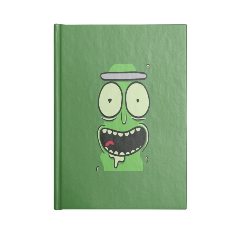 Pickle Rick Accessories Blank Journal Notebook by ALGS's Artist Shop