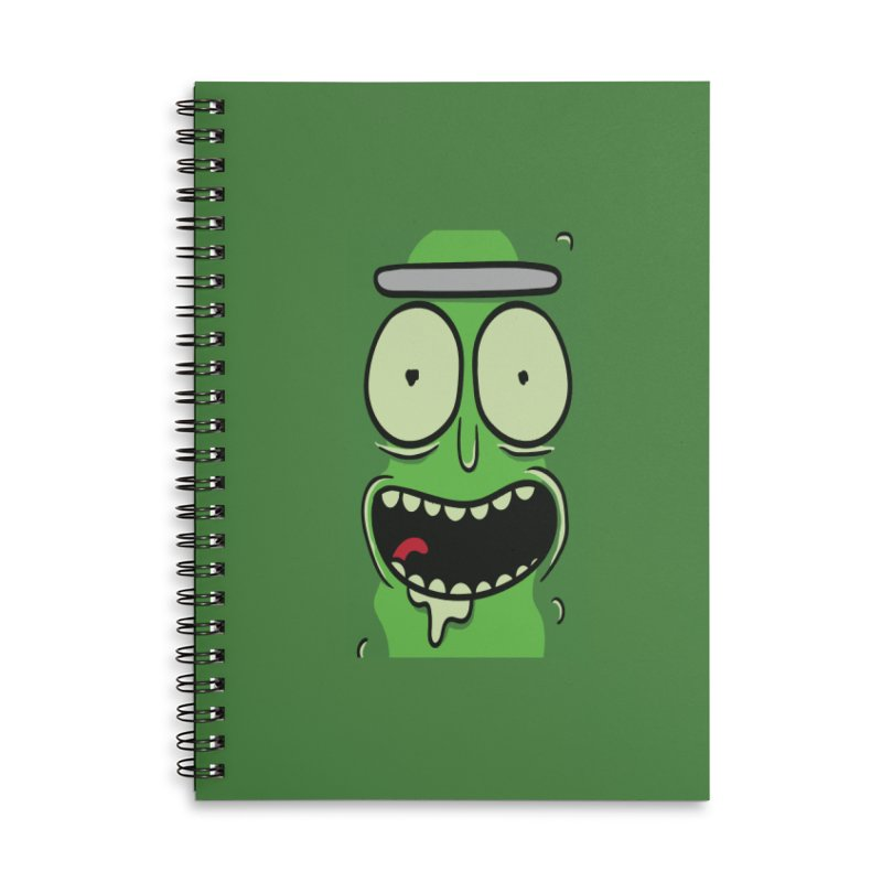Pickle Rick Accessories Lined Spiral Notebook by ALGS's Artist Shop