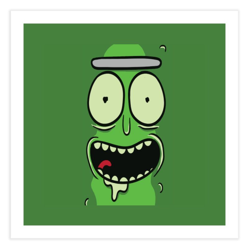 Pickle Rick Home Fine Art Print by ALGS's Artist Shop