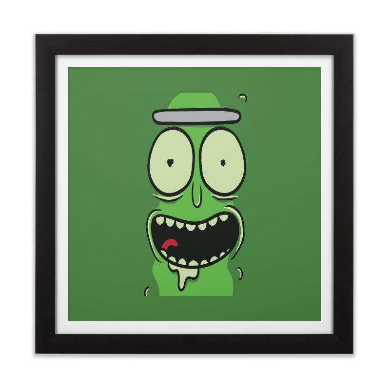Pickle Rick Home Framed Fine Art Print by ALGS's Artist Shop
