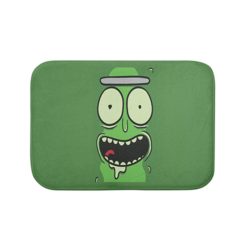 Pickle Rick Home Bath Mat by ALGS's Artist Shop