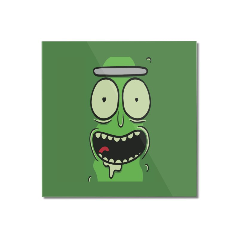 Pickle Rick Home Mounted Acrylic Print by ALGS's Artist Shop