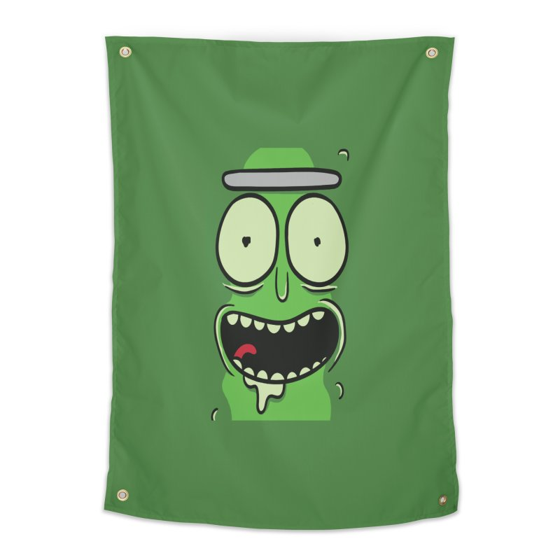Pickle Rick Home Tapestry by ALGS's Artist Shop