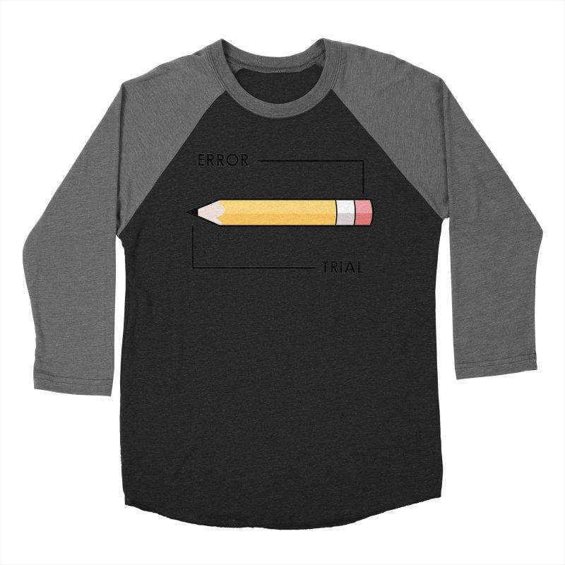Trial & Error Men's Baseball Triblend Longsleeve T-Shirt by ALGS's Artist Shop
