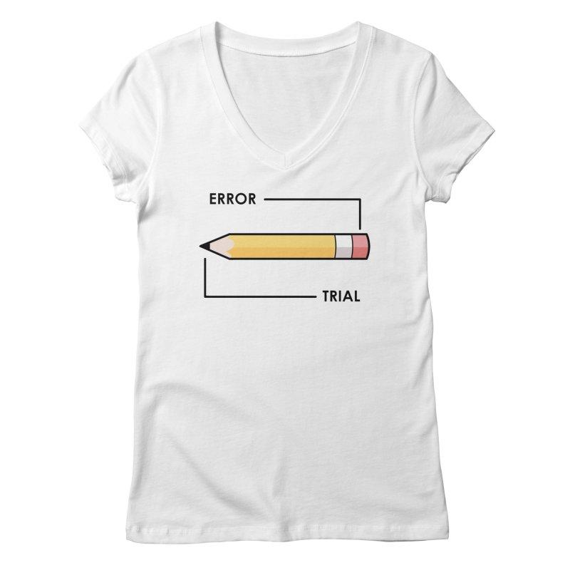 Trial & Error Women's Regular V-Neck by ALGS's Artist Shop