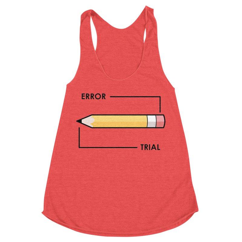 Trial & Error Women's Racerback Triblend Tank by ALGS's Artist Shop