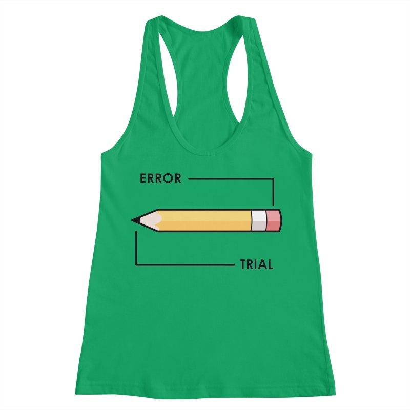 Trial & Error Women's Racerback Tank by ALGS's Artist Shop