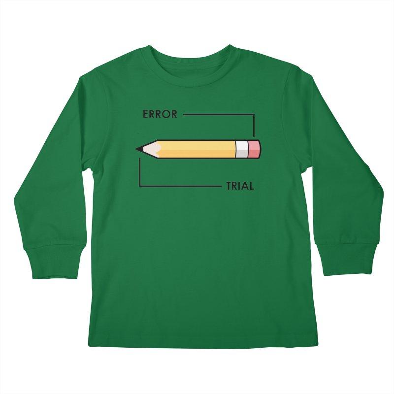 Trial & Error Kids Longsleeve T-Shirt by ALGS's Artist Shop