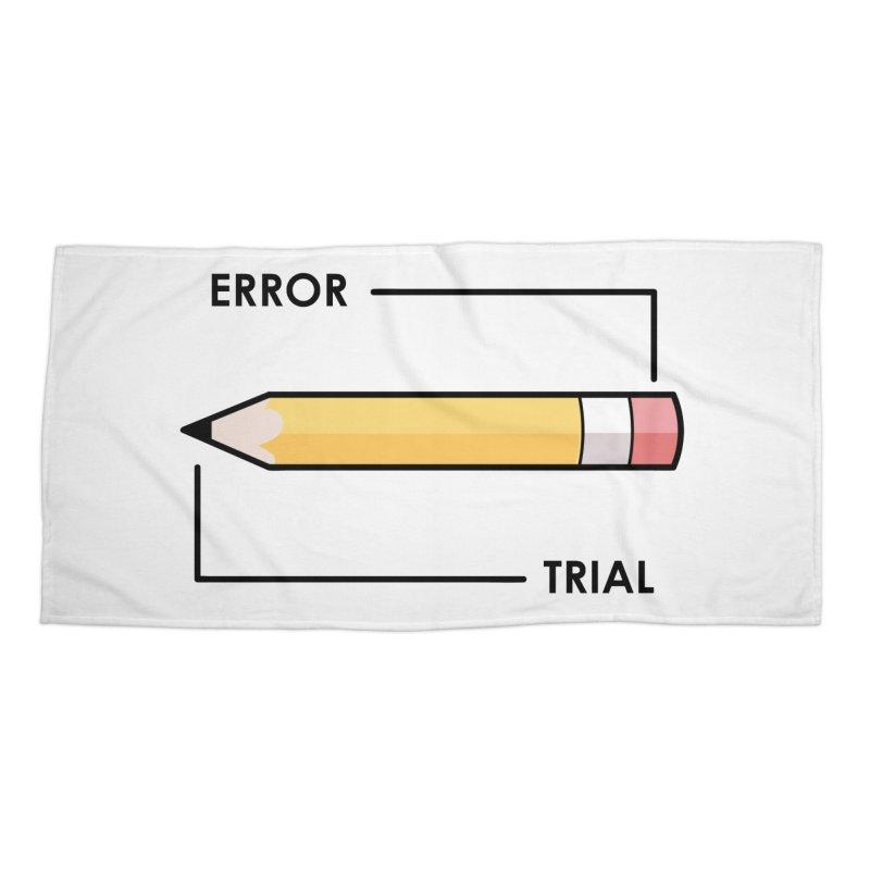 Trial & Error Accessories Beach Towel by ALGS's Artist Shop