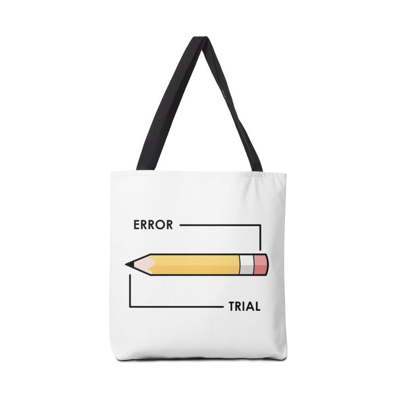 Trial & Error Accessories Tote Bag Bag by ALGS's Artist Shop
