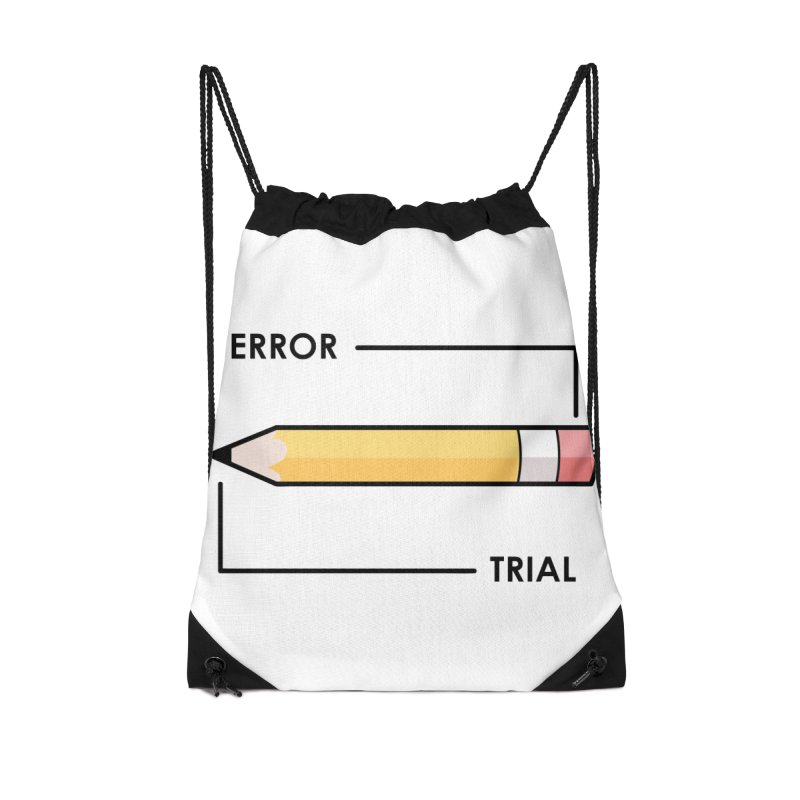 Trial & Error Accessories Drawstring Bag Bag by ALGS's Artist Shop