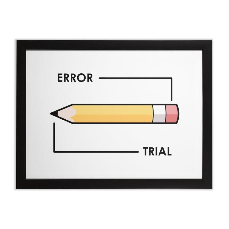 Trial & Error Home Framed Fine Art Print by ALGS's Artist Shop
